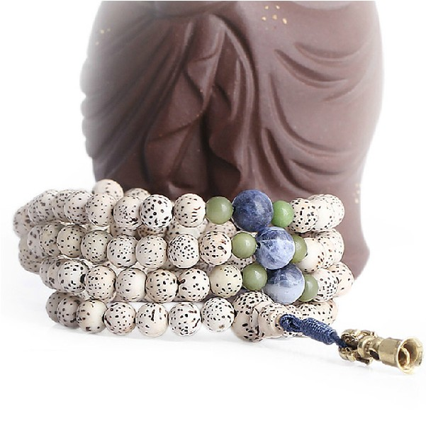 Bodhi Seeds Mala Tibetan 108 Beads Mala Copper Bell
