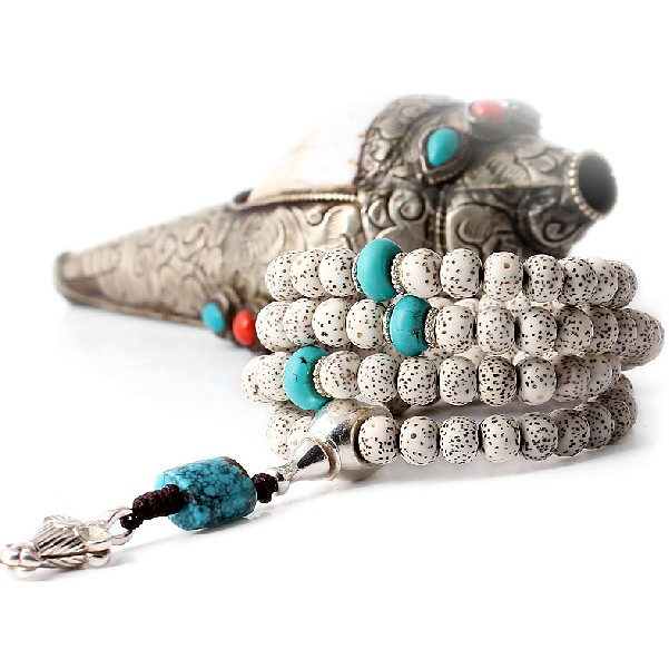 Bodhi Seeds Mala Tibetan 108 Prayer Beads Mala Turquoise