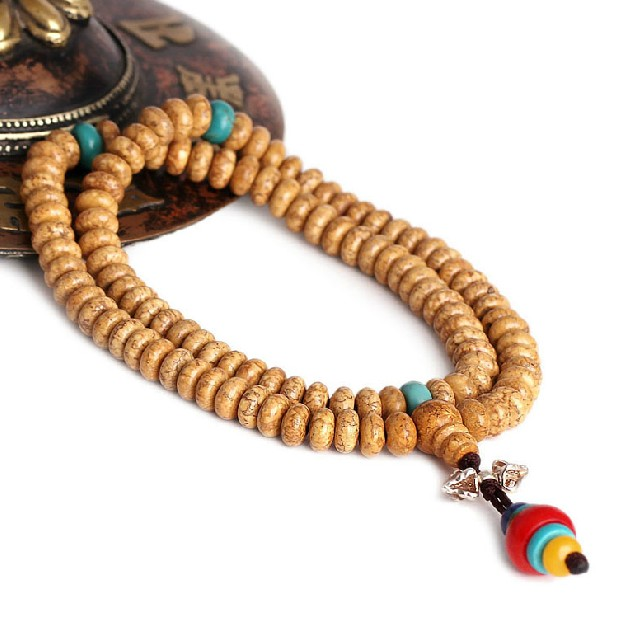 Bodhi Seeds Mala Tibetan 108 Prayer Beads Mala Dorje