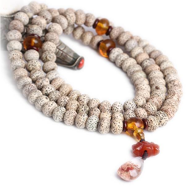 Bodhi Seeds Mala Tibetan 108 Prayer Beads Mala Amber
