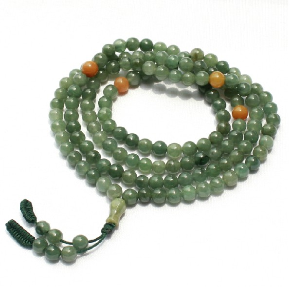 Jade 108 Beads Mala Tibtan Prayer Beads Adjustable