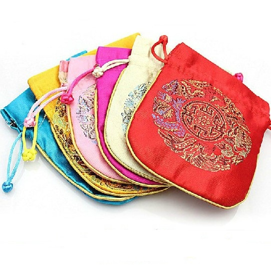 Tibetan Mala's Bag Bbrocade Beads Bag