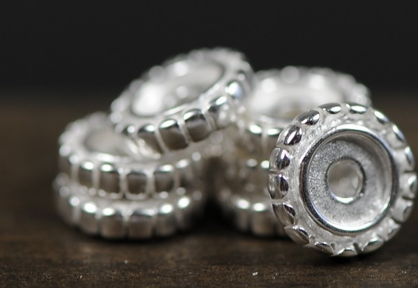 Mala Accessory Beads Silver Spacer Beads