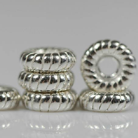 Mala Accessory Spacer Beads Silver Beads