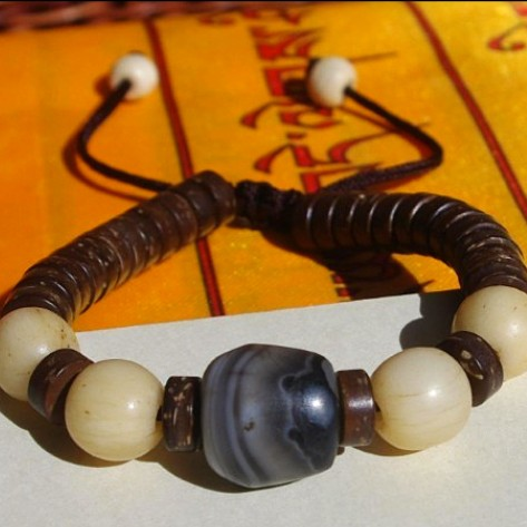 Tibetan Old Agate Beaded Bracelet Beads Bracelet